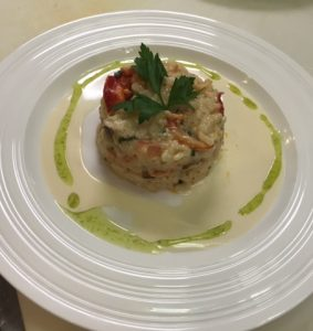 Lobster Risotto Appetizer, Truffle Champagne Butter