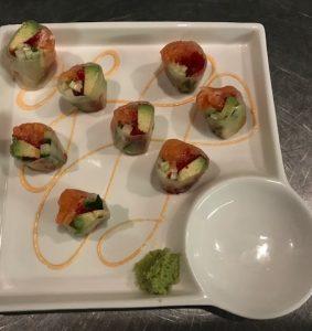 Salmon Summer Roll, Fresh Wasabi